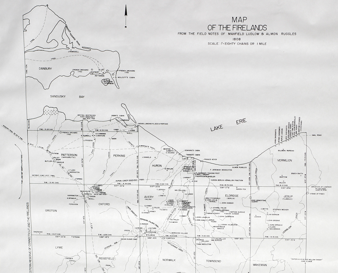 Map of the Firelands - Erie County Ohio Historical Society
