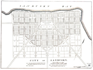 1818 Map Of Sandusky - Erie County Ohio Historical Society