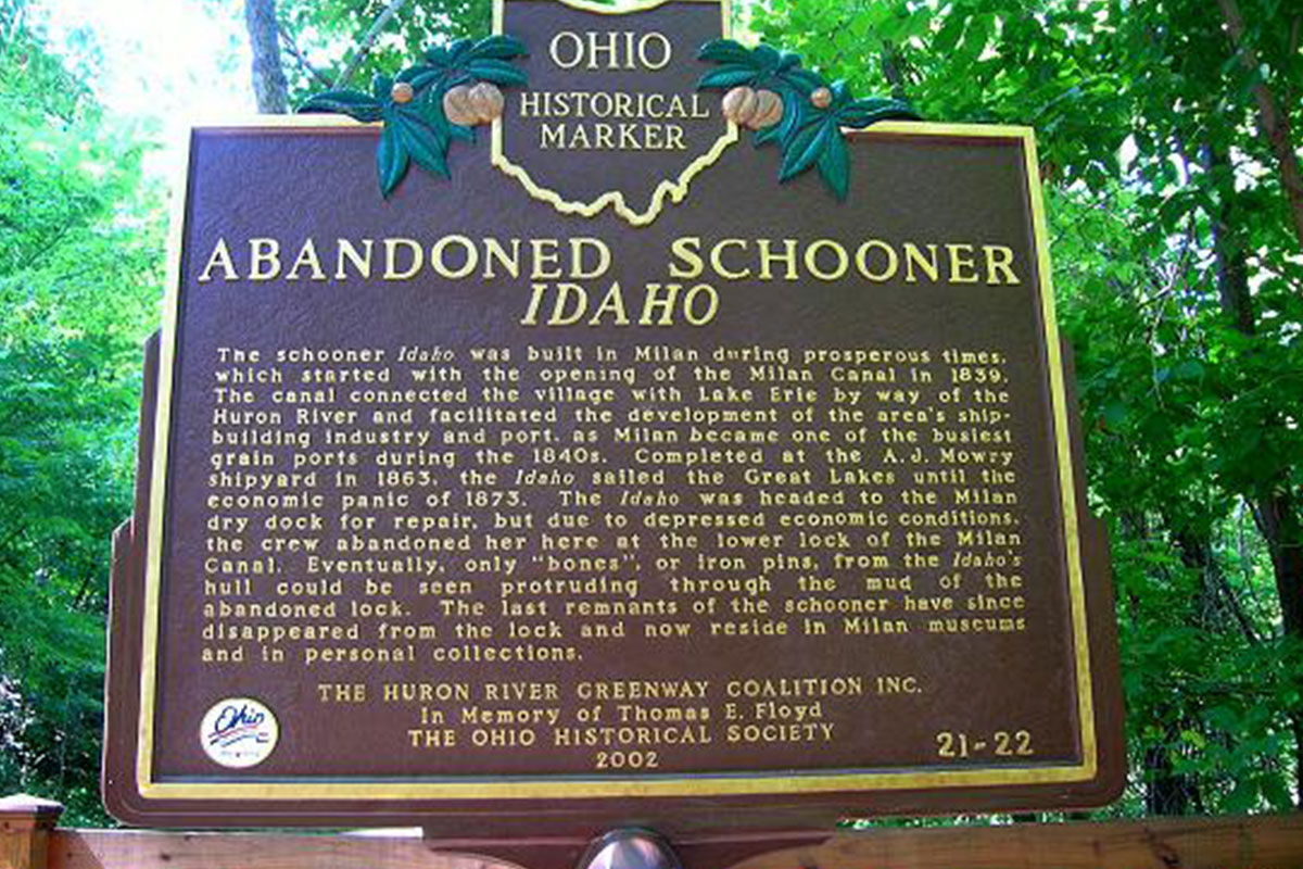 Abandoned Schooner Idaho - Erie County Ohio Historical Society