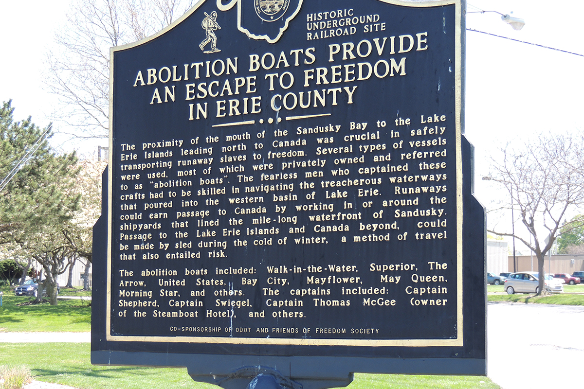 Abolition Boats Provide Escape To Freedom In Erie County Marker - Erie County Ohio Historical Society