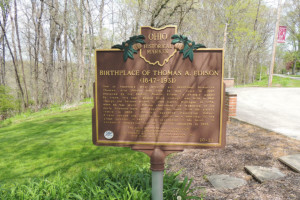 Birthplace of Thomas A Edison Marker - Erie County Ohio Historical Society