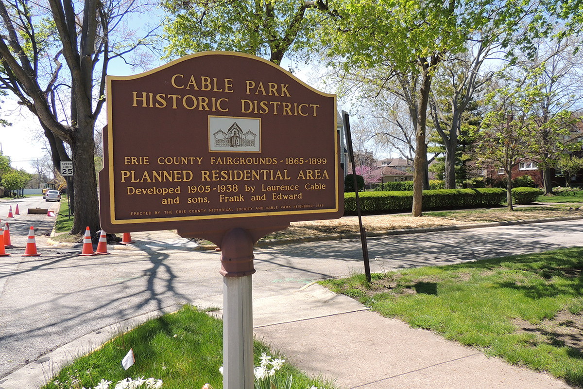 Cable Park Historic District Marker - Erie County Ohio Historical Society