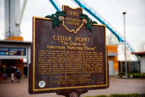 Cedar Point Marker - Erie County Ohio Historical Society