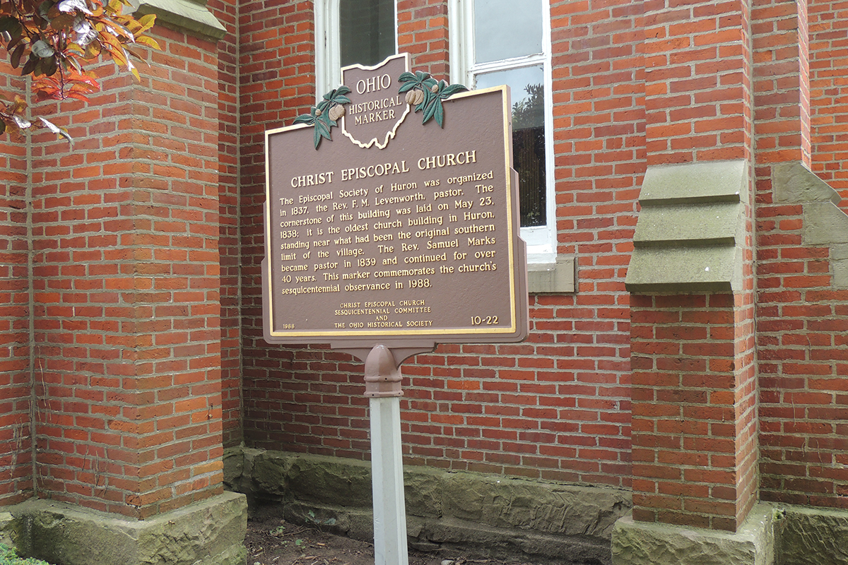 Christ Episcopal Church Marker - Erie County Ohio Historical Society