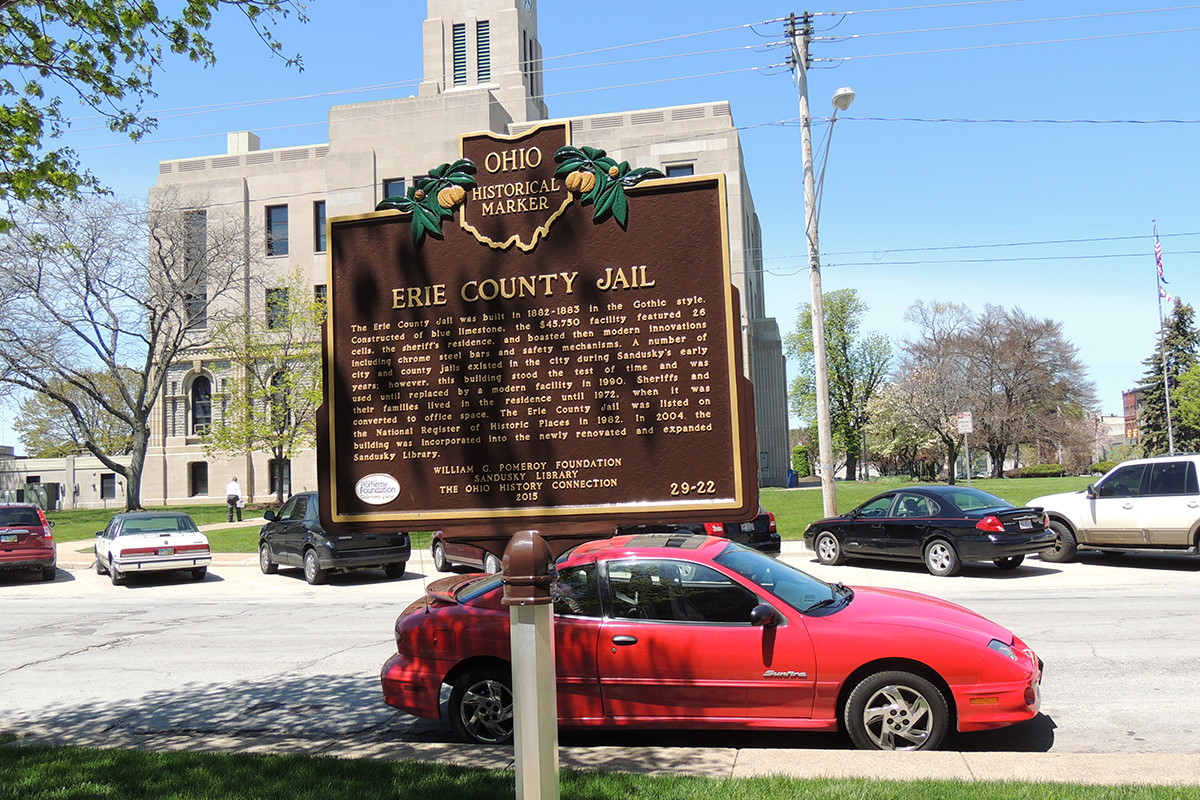 Erie County Jail Marker - Erie County Ohio Historical Society
