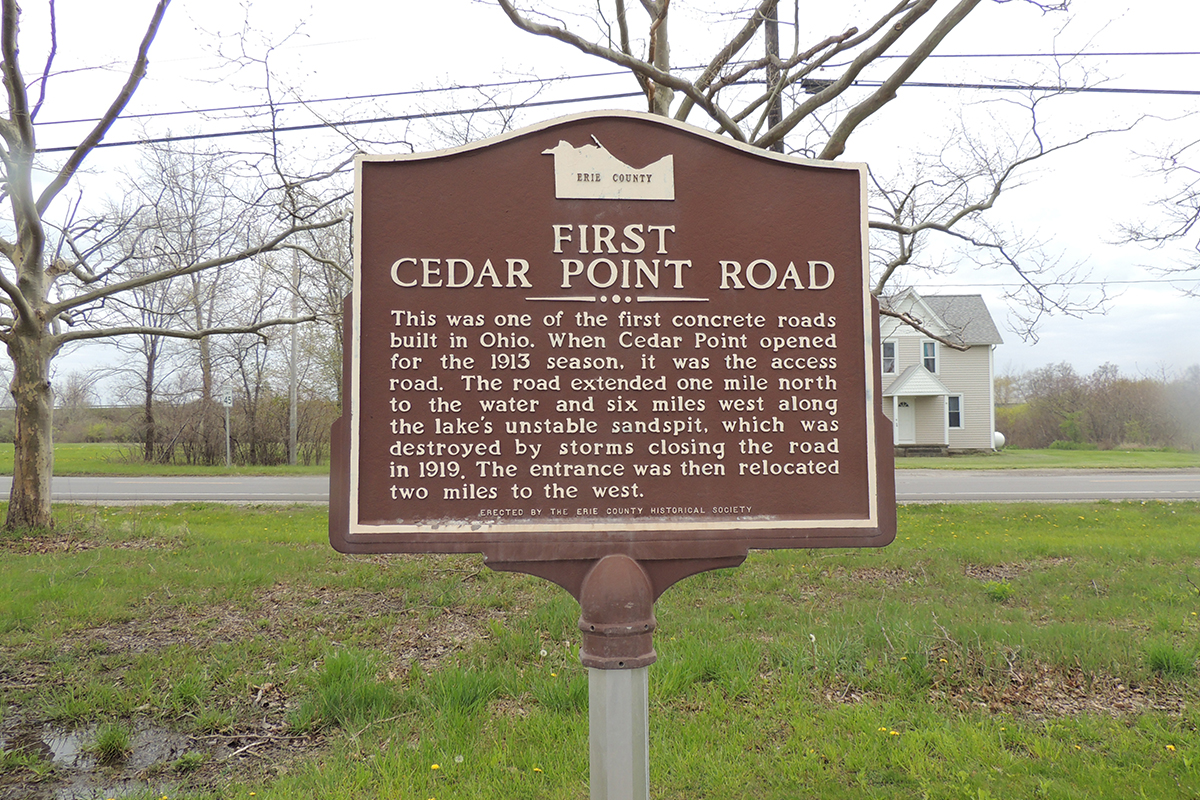 First Cedar Point Road Marker - Erie County Ohio Historical Society