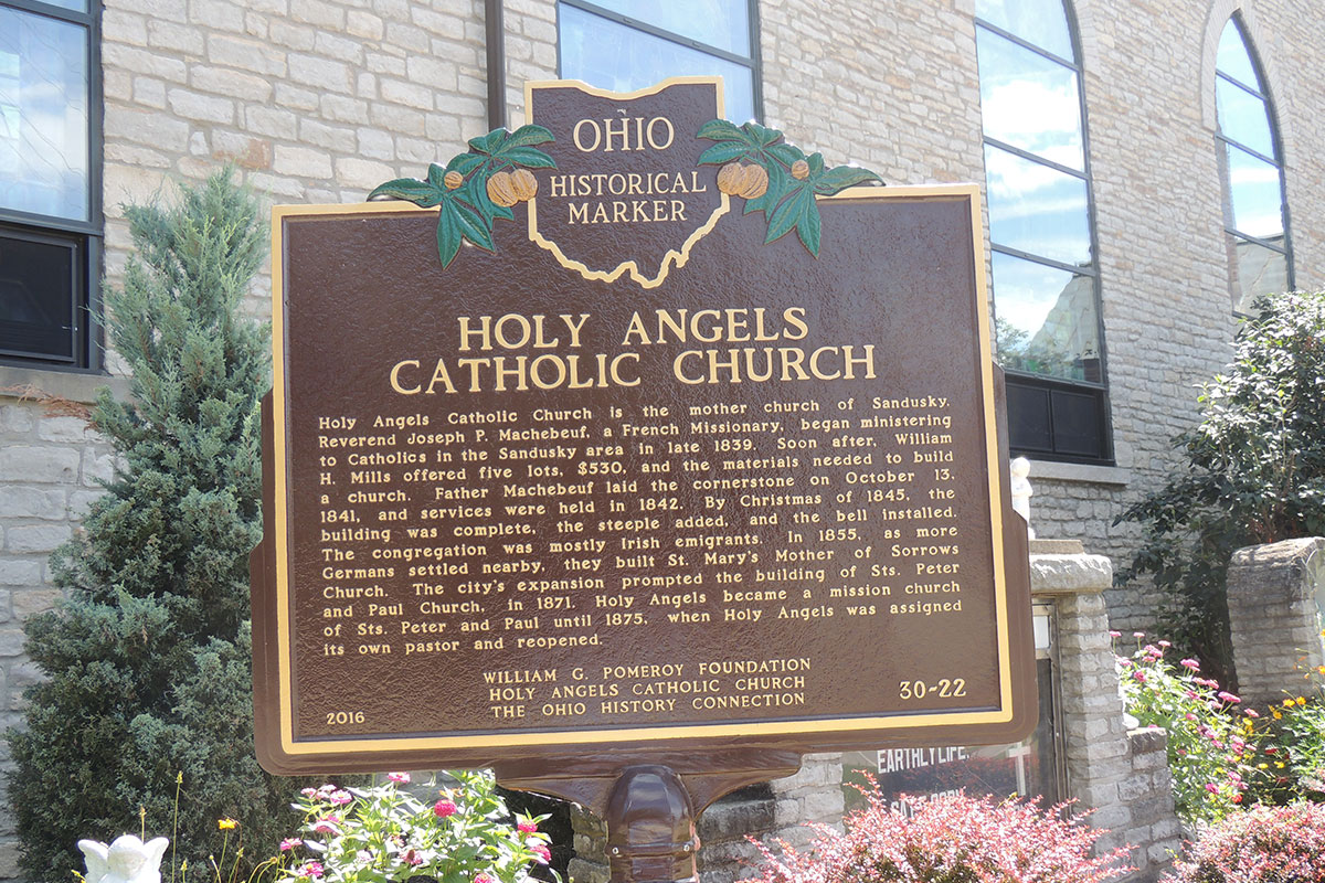 Holy Angels Catholic Church Marker - Erie County Ohio Historical Society