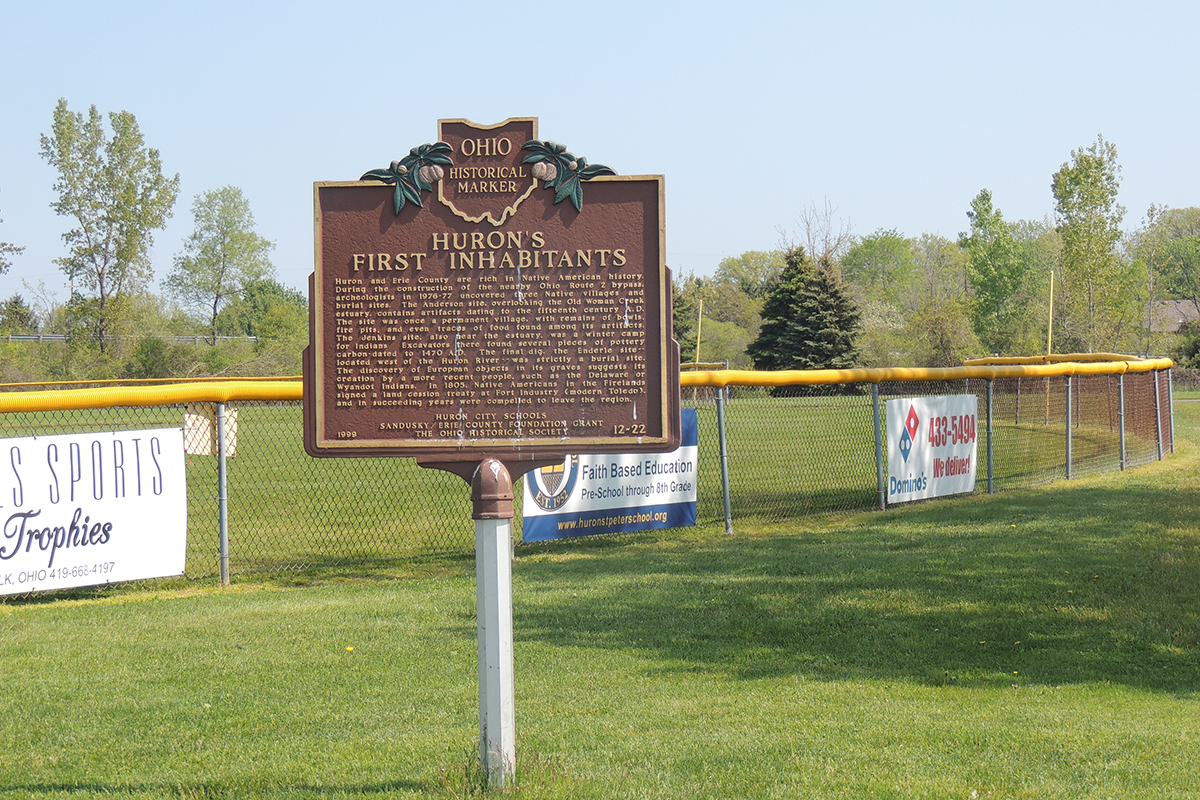 Huron's First Inhabitants Marker - Erie County Ohio Historical Society