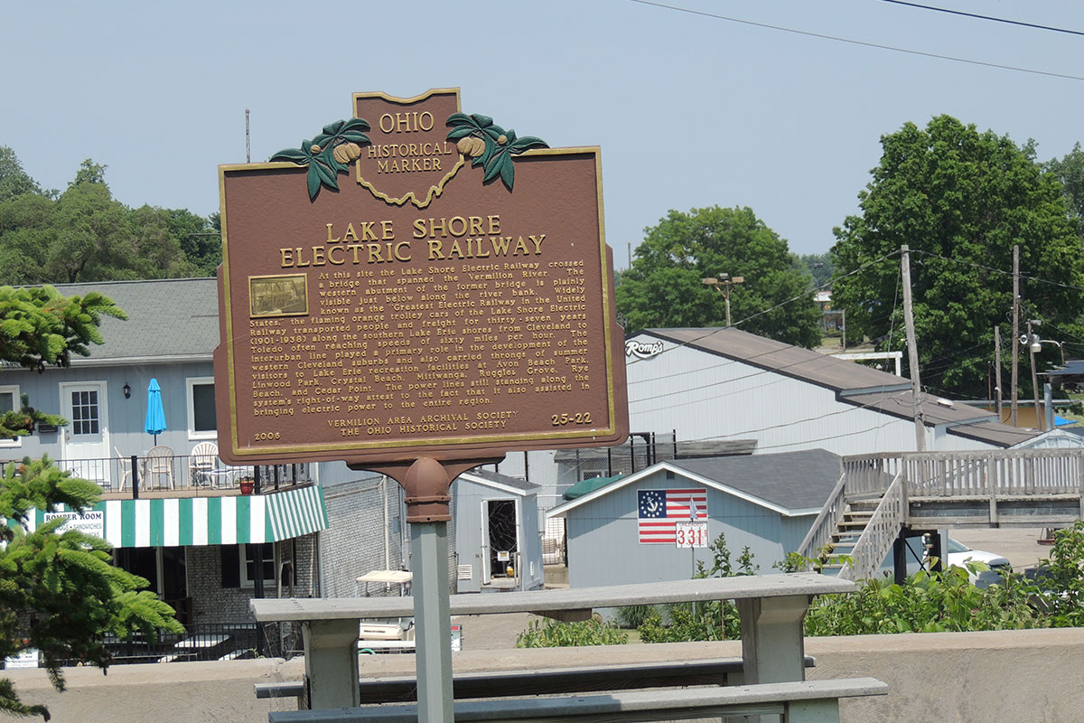 Lake Shore Electric Railway Marker - Erie County Ohio Historical Society