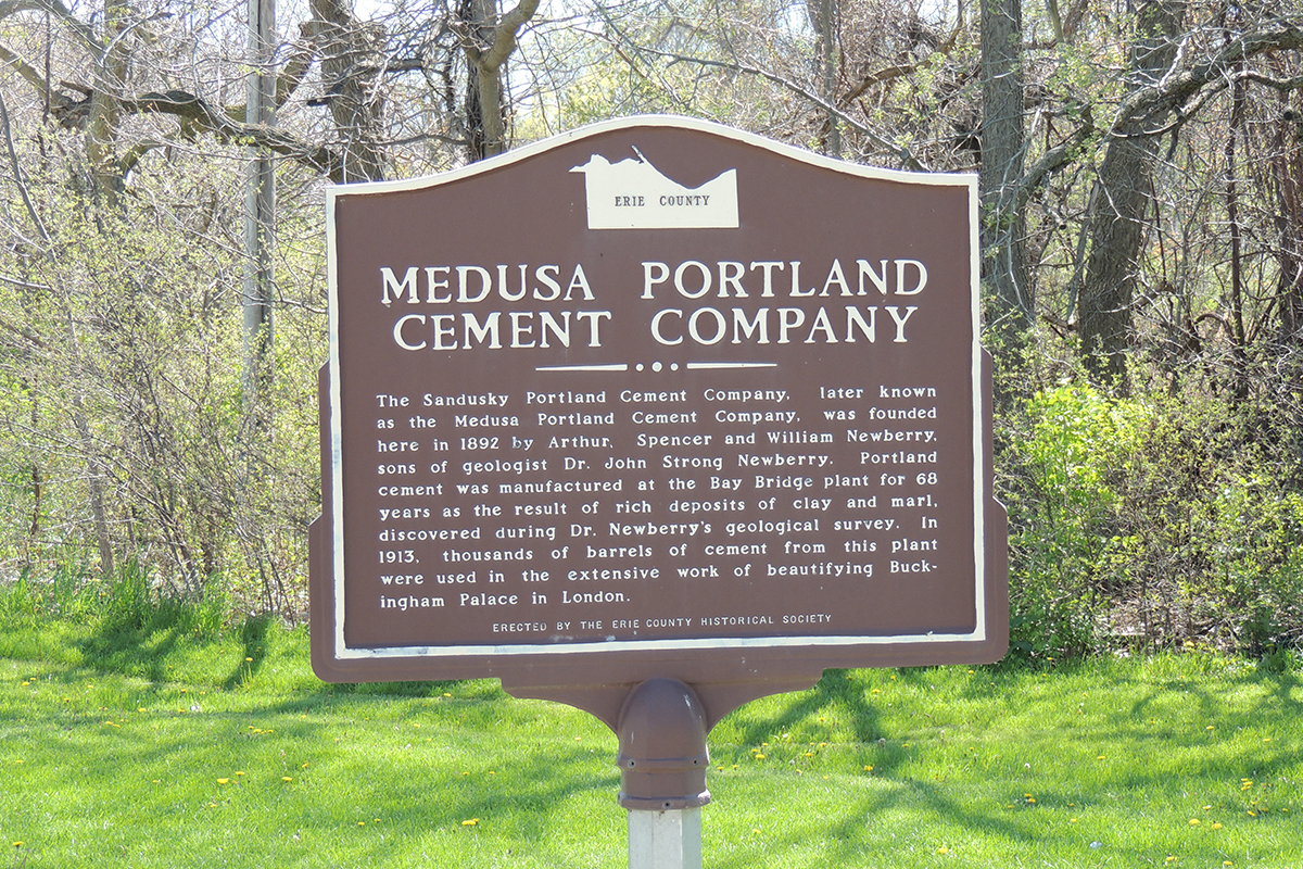 Medusa Portland Cement Company Marker - Erie County Ohio Historical Society