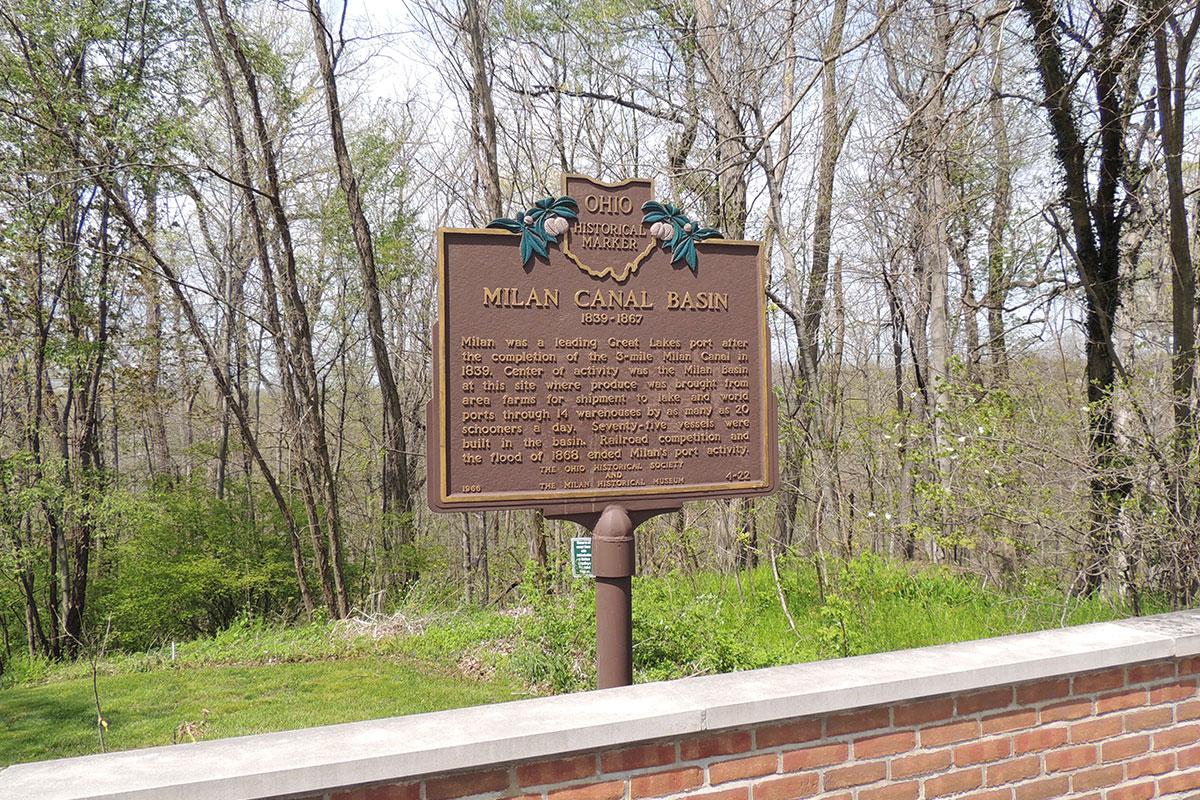 Milan Canal Basin Marker - Erie County Ohio Historical Society