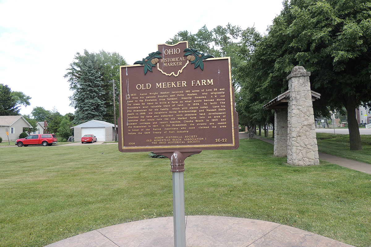 Old Meeker Farm Marker - Erie County Ohio Historical Society