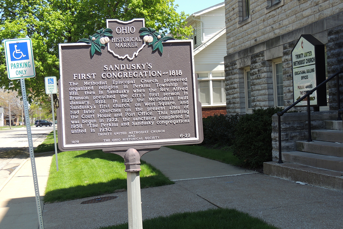Sandusky's First Congregation Marker - Erie County Ohio Historical Society