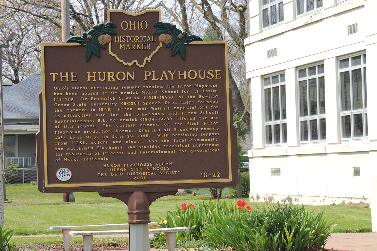 The Huron Playhouse Marker - Erie County Ohio Historical Society