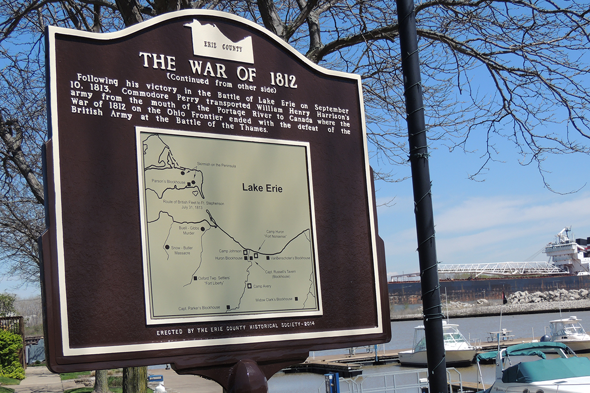 War of 1812 Marker - Erie County Ohio Historical Society