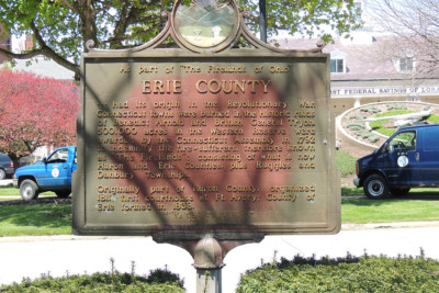 Erie County Marker - Erie County Ohio Historical Society