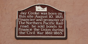 Jay Cooke Birthplace Marker - Erie County Ohio Historical Society