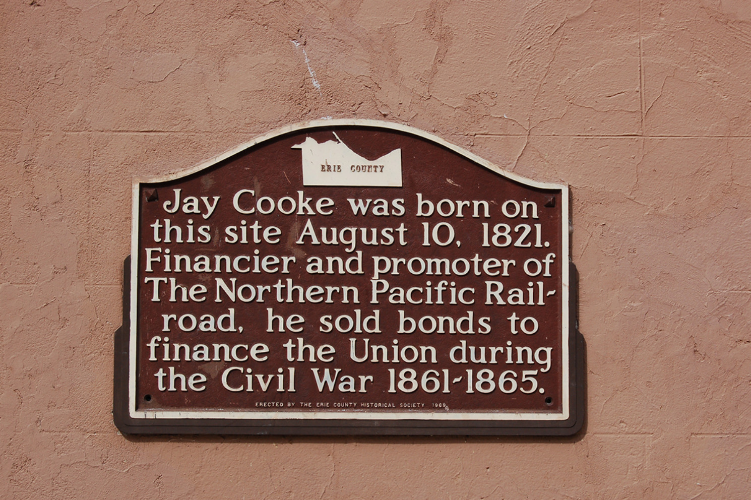 Jay Cooke Marker - Erie County Ohio Historical Society