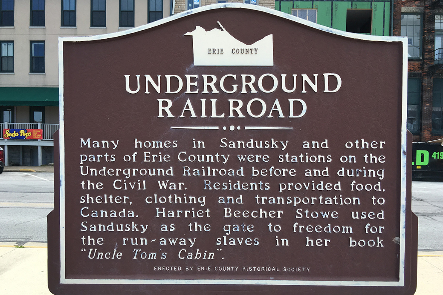 Underground Railroad Marker - Erie County Ohio Historical Society